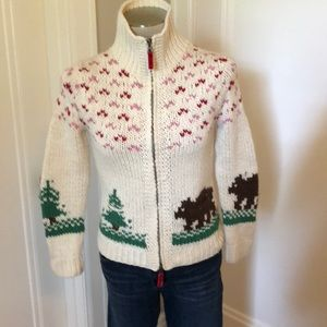 American Eagle cableknit cardigan sweater size s